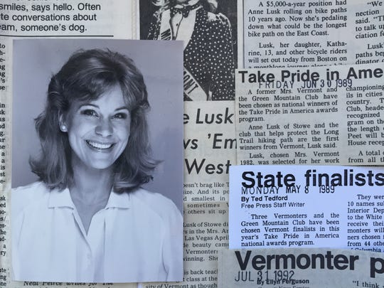 Anne Lusk in 1987, with clips following her advocacy of greenways and bike trails after her success with the Stowe recreation path.