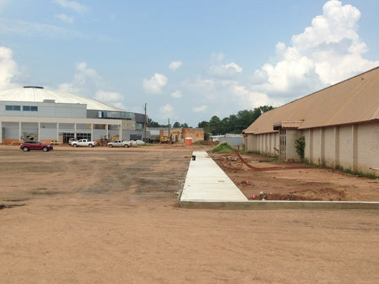 Exhibition Hall (right) is currently scheduled to be renovated in about a year, while renovation of the Rapides Parish Coliseum is expected to be essentially through by the end of this year. Police Juror Joe Bishop wants the Exhibition Hall renovation to begin soon.
