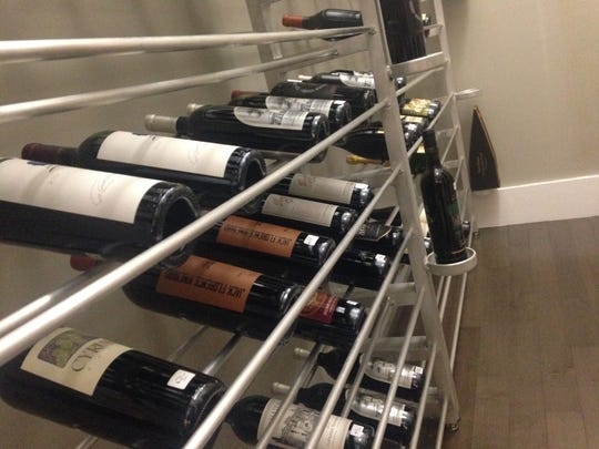The selections in Aragon Wine Market's cold room begin at $44 and go up to $560. The cold room protects delicate wines from going bad.