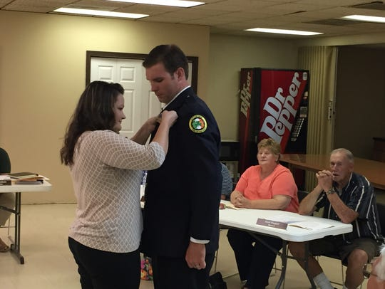 Erin firefighter Andrew DeMersman has a lieutenant