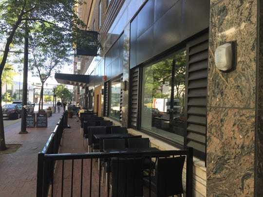 Vivian's Diner & Drinks features a long, skinny patio
