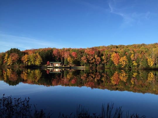 A view of the stunning fall foliage at Camp Tuscarora near Windsor in 2015.