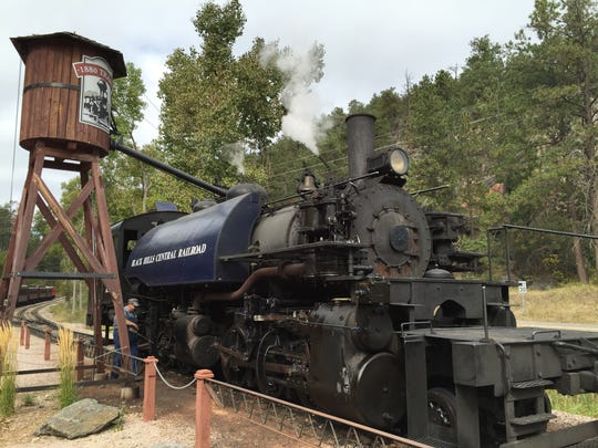 The 1880 Train, a historic steam train, runs between Keystone and Hill City, offering passengers a taste of the way travelers made their way across the USA back in the late 1800s.