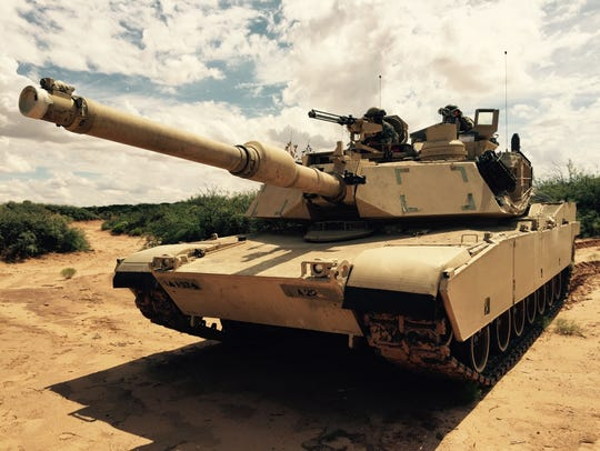 An Abrams tank from 2nd Brigade is ready for action
