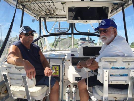 Dave Whitt of Fremont, left, and Dave Spangler of Oak