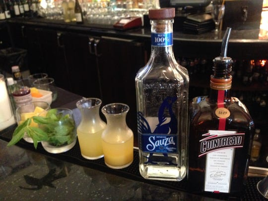 Ingredients for the Pineapple Mint Margarita at Superior's Steakhouse.