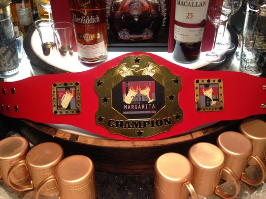 The 2016 Red River Margarita Pour Off championship belt went to Superior's Steakhouse for their Pineapple Mint Margarita.