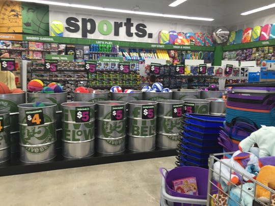 Five Below has a large variety of sporting goods.
