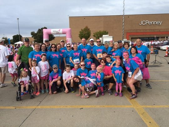 Jamie Ellard and her team from a past Race for the Cure.