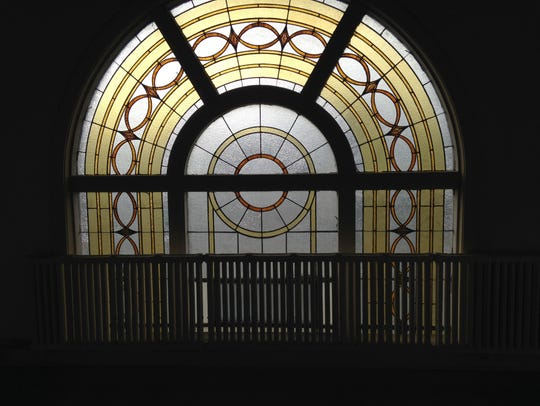 One of many stained glass windows, this one is on the