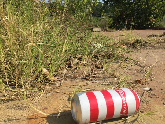 An empty beer can left behind by someone wandering