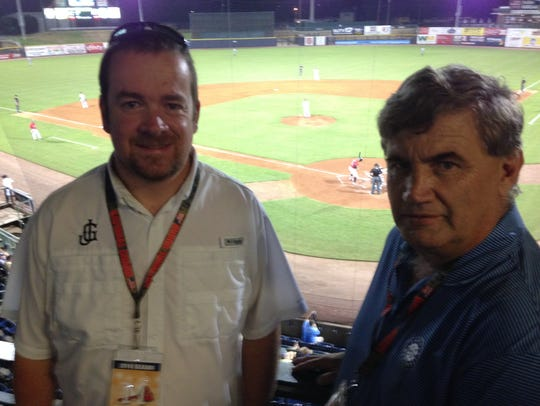 Jason Compton, GM of the Jackson Generals and Charles Farrell, the team's chief financial officer.