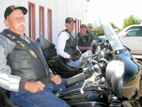 """From left are American Legion Riders, New Mexico Chapter 12, Bob Speer, President James """"Smiley"""" Morris, Boyd McIlhatton and Steve Rieffer, chaplain and vice-president. The Riders invite the biker community to participate in the Forgotten Veterans Bike Run at 10 a.m. on Saturday, Sept. 23.at the American Legion Bataan Post 4 Home, 619 W. Spruce St."""