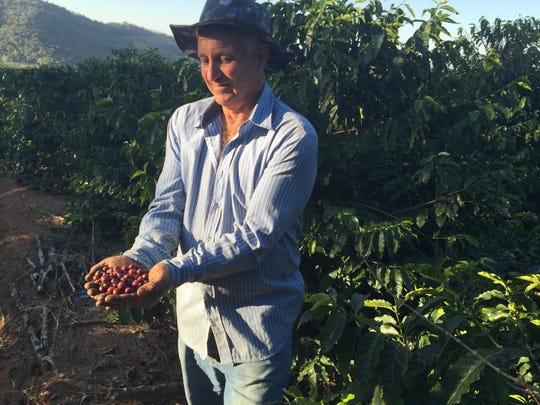 Brazilian coffee grower Celso Minussi.