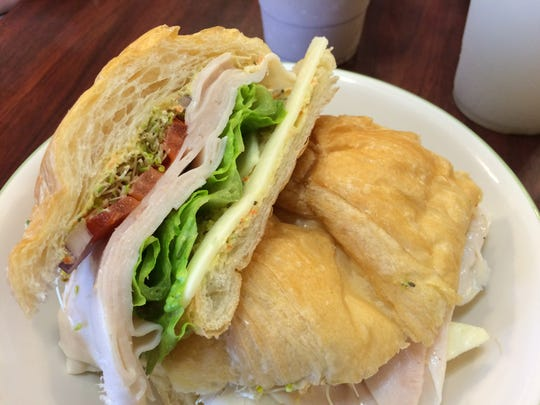 The Turkey Sandwich at The Pastry Pub in Cedar City comes with the restaurant's zingy herbal sauce and is available on a croissant.