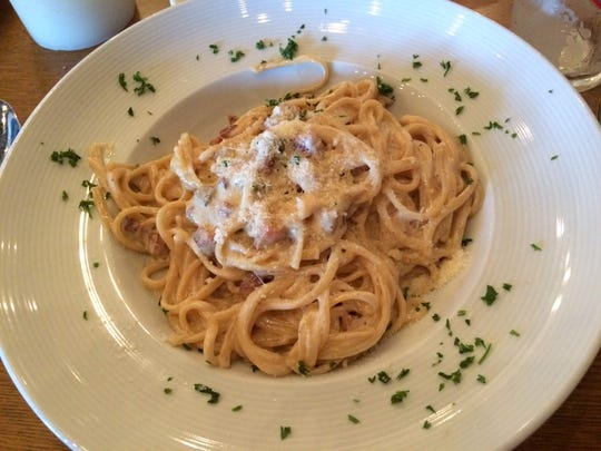 Linguine carbonara from Trattoria Mia in south Fort  Myers.