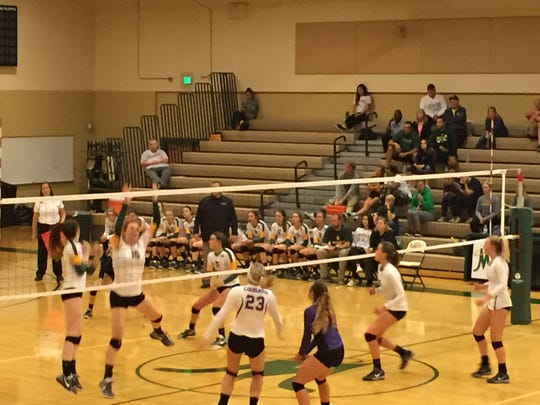 Bishop Manogue swept Spanish Springs in 4A volleyball Wednesday.