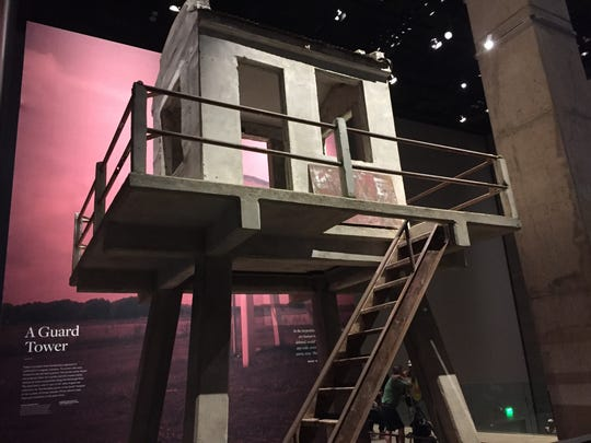 A tower from Angola prison is on exhibit at the Smithsonian's National Museum of African American History and Culture.