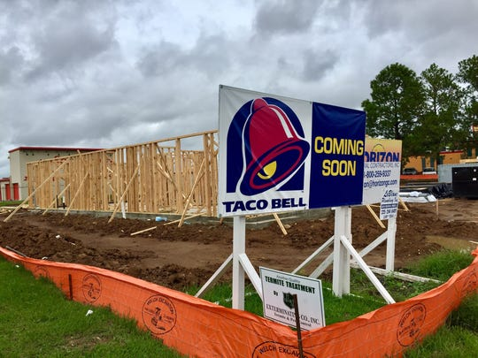 The Taco Bell on W. Congress near Bertrand is starting to take shape.