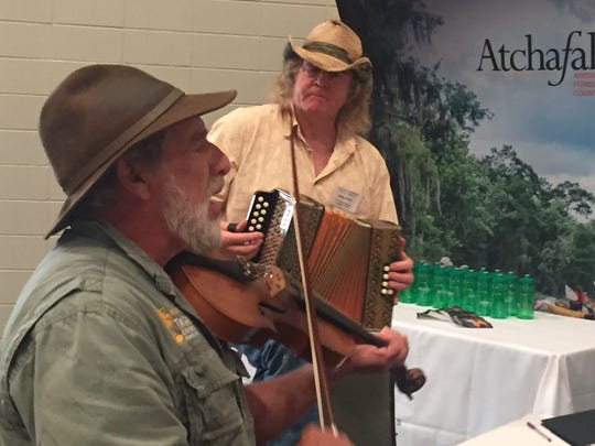 Musicians Gerard Dupuy and Bobby Michot played Louisiana