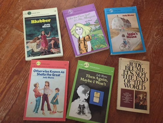 A few of my vintage Judy Blume books, lovingly preserved.