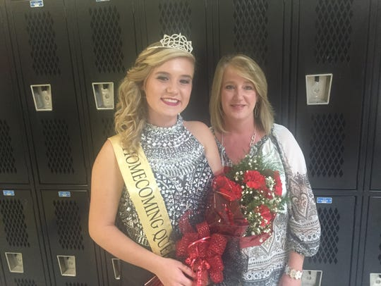 Homecoming Queen Miranda Parker and her mother, Joy
