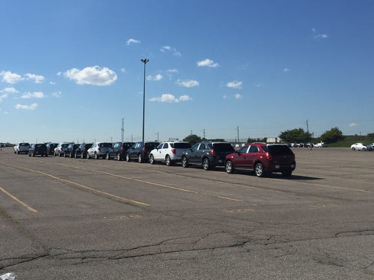 2016 Chevrolet Equinox's await delivery at GM's Oshawa