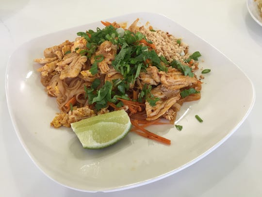 Traditional Pad Thai is served at SaBaiDee Cafe in