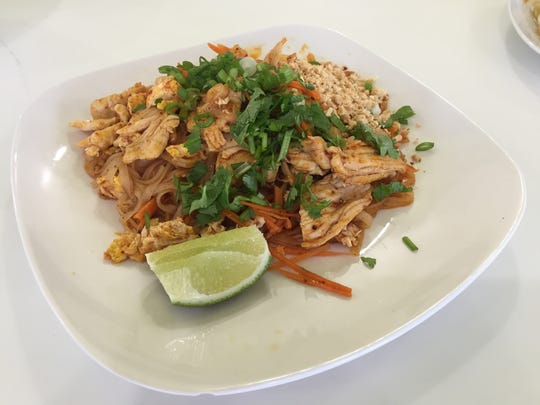 Traditional Pad Thai is served at SaBaiDee Cafe in Murfreesboro.