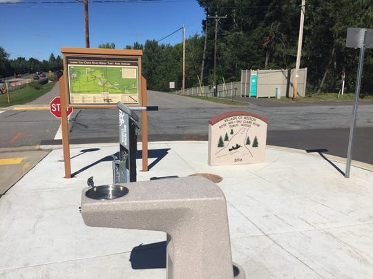 The newly built Ross Avenue launch site includes a water fountain and maps to guide paddlers.