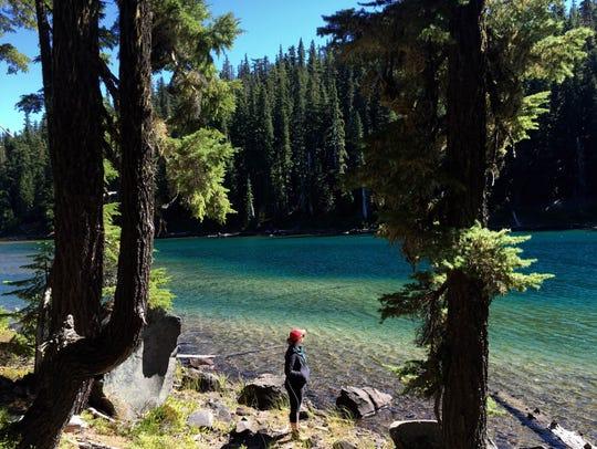 The off-trail climb up Diamond Peak begins at Marie