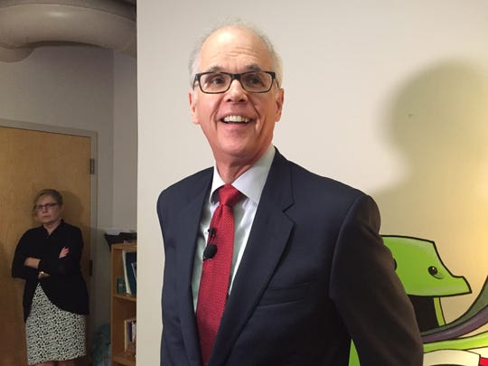 Dr. Joseph Hagan, a clinical professor in pediatrics at the University of Vermont College of Medicine and the Vermont Children's Hospital, was at CUSI in Burlington to promote a video on safe sleeping on Wednesday, Sept. 28, 2016. He has a private practice in Burlington.