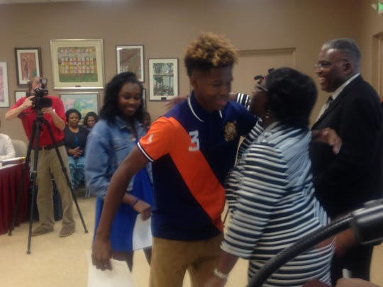 Park Crossing students were honored for their heroic actions in front of the MPS board Tuesday.