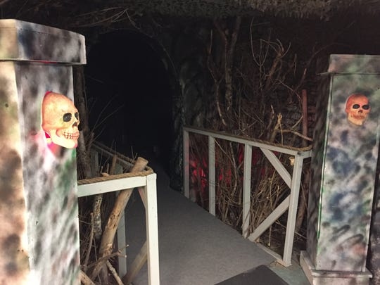 The entrance to the Haunted Halls of Horror at the Southern Tier Independence Center.