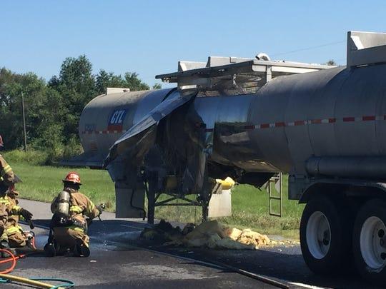 A hazardous material spill closed Interstate 10 Thursday