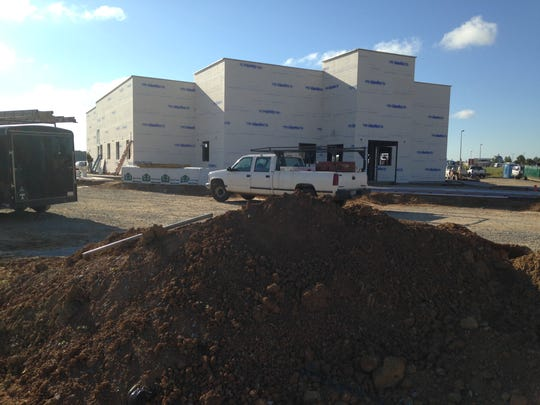 Construction work continues at Los Portales newest location at 1461Union University Drive.