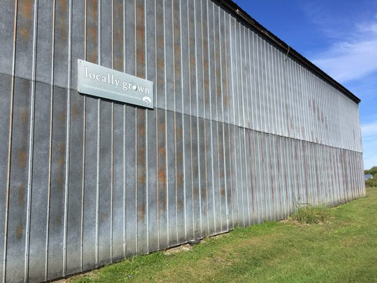 The storage shed at Allenholm Farm in South Hero. The