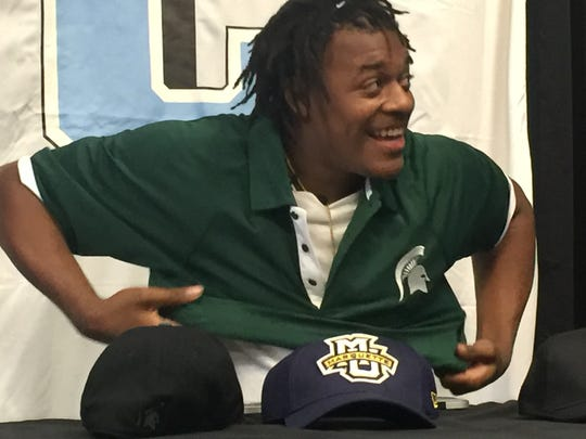 Xavier Tillman chose MIchigan State University Friday afternoon. Tillman is ranked the No. 75 player in the nation, according to ESPN.com.