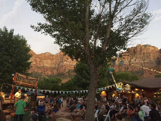 The 2015 Rocktoberfest at the Zion Canyon Village in Springdale.