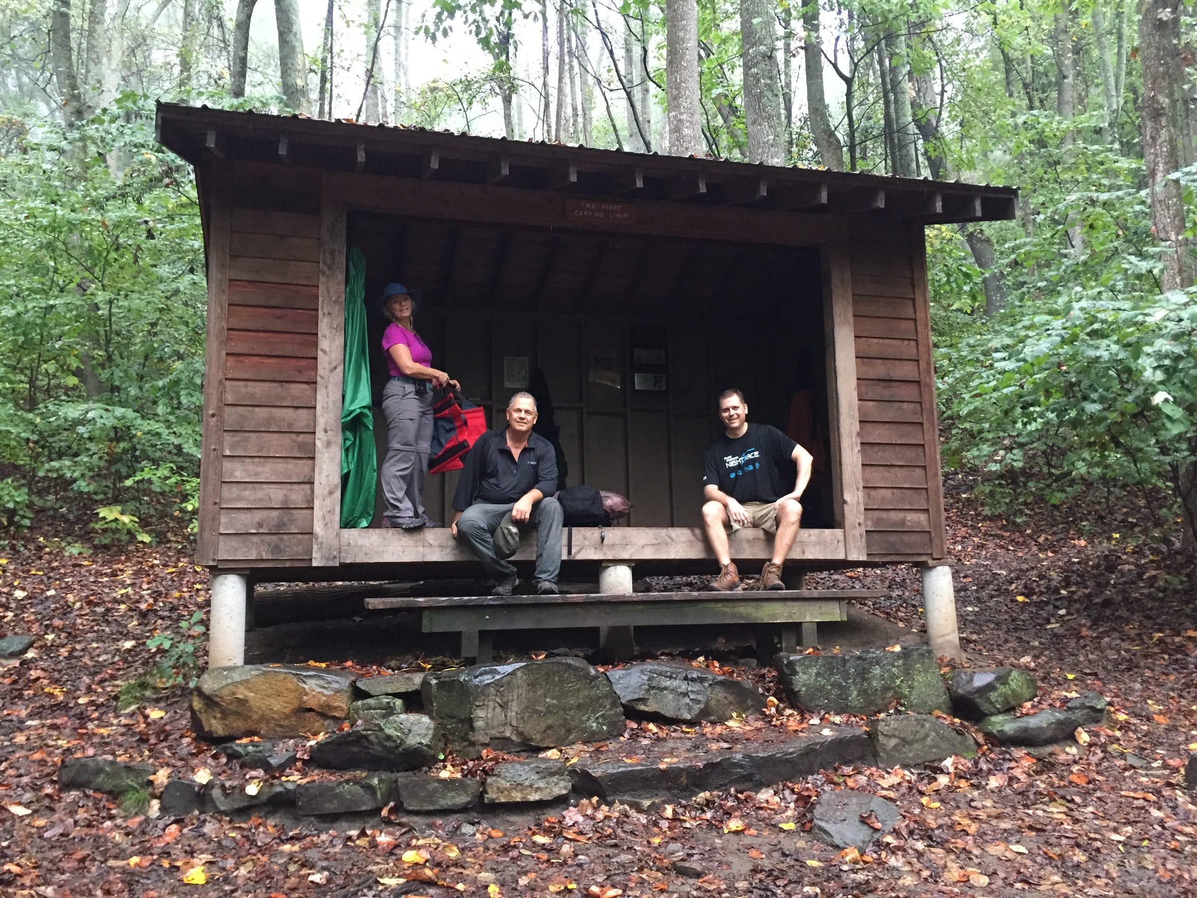 This wood shelter protected us from a torrential downpour