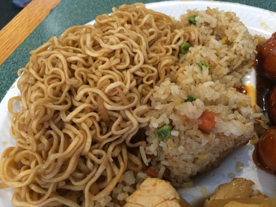On the lunch menu, you can get half servings of noodles