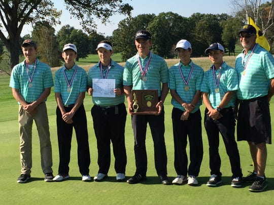 Newark Catholic won its first-ever boys Division III district golf championship Wednesday at Apple Valley Golf Course.