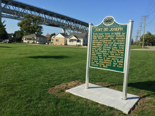 A state historical marker for Fort St. Joseph has been moved to Elmwood Street.