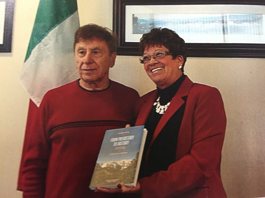 Sando Sticca recently received a Lifetime Achievement Award from Broome County, presented by County Executive Debbie Preston.