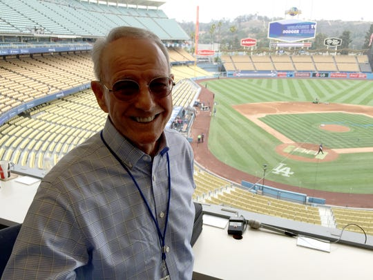 "Jerry White of Camarillo is the official scorer at Dodger Stadium, a thankless job for sure. ""Sometimes you make a decision and you're going to make some people unhappy,"" he says."