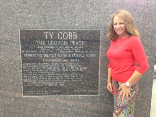 Cindy Cobb, granddaughter of Tigers great Ty Cobb,