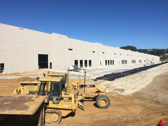Construction equipment sits in front of 1445 Eden Road, a 750,000 square-foot logistics hub that has attracted an unnamed tenant.