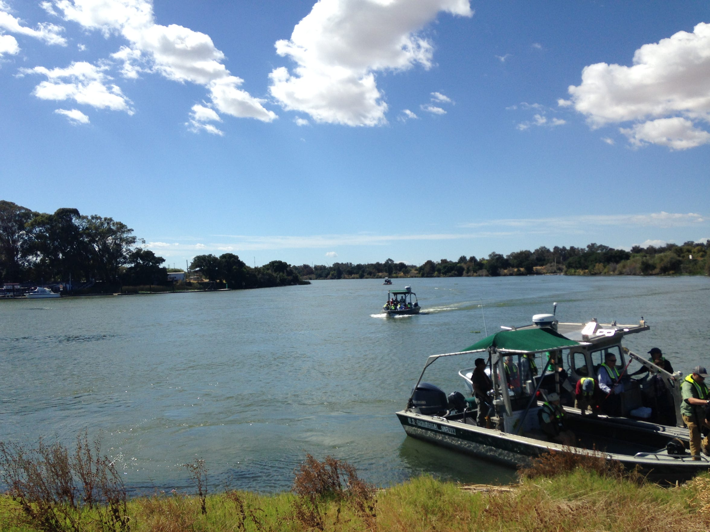 Boaters explore the Sacramento-San Joaquin River Delta,