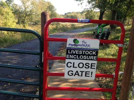The gates along the trail keep the cows where they're supposed to be.