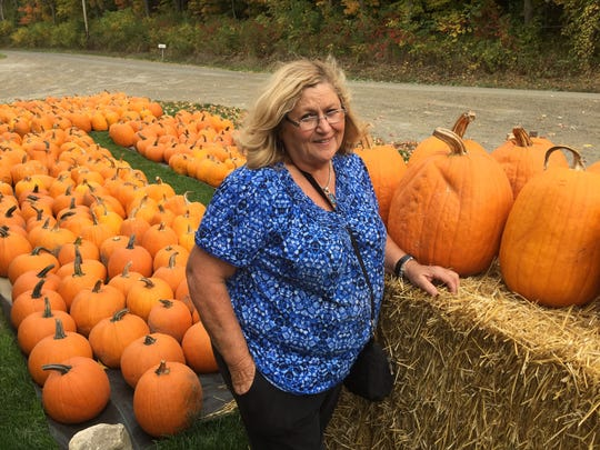 Norma Norris, owner of Norris Berry Farm in Monkton, said drip irrigation helped her pumpkin crop to thrive.